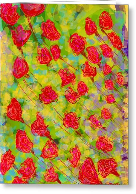 Many Greeting Cards - Flowers Greeting Card by Khushboo N