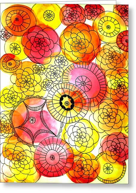Lisa Noneman Greeting Cards - Flowers Greeting Card by Lisa Noneman