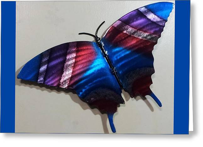 Purples Reliefs Greeting Cards - Fly Away Butterfly Greeting Card by The  Torchcutters