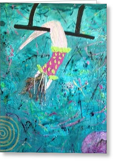 Living With Joy Greeting Cards - Flying Without a Net Greeting Card by Annette McElhiney