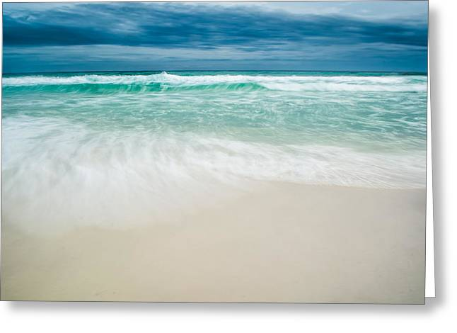 Wet Floor Greeting Cards - Foaming Waves Greeting Card by Shelby  Young