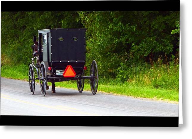 Amish Community Greeting Cards - Follow Me Greeting Card by Tina M Wenger