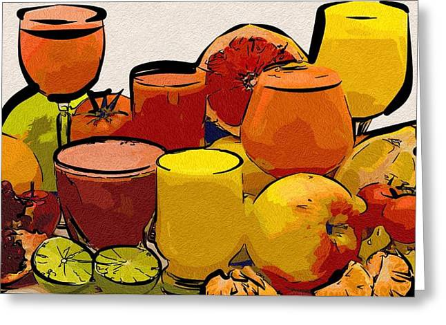 Local Food Digital Greeting Cards - Food Of The Picture Greeting Card by Michael Vicin