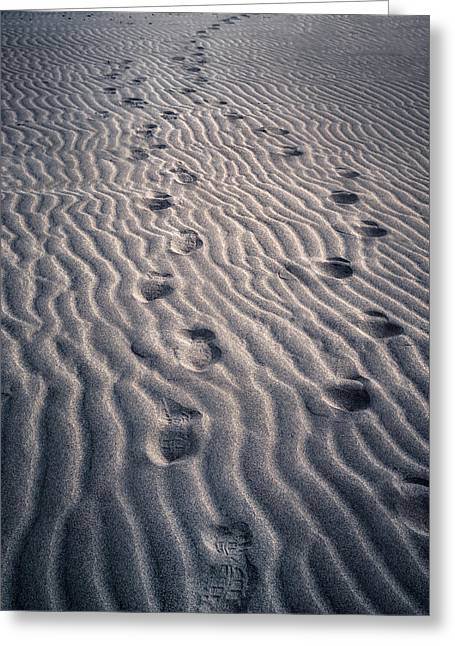 Greeting Cards - Footprints Greeting Card by Joana Kruse