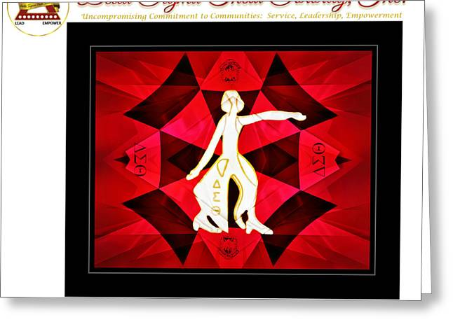 African-american Greeting Cards - Forever Delta Greeting Card by Lynda Payton