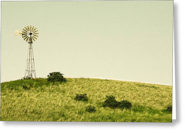 Forlorn Windmill Greeting Card by Todd Klassy