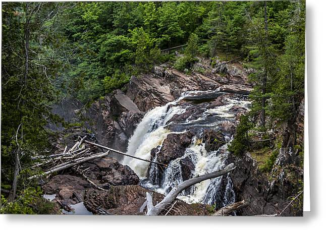 Peaceful Scenery Greeting Cards - Fort Coulonge Waterfalls Greeting Card by Michel Rathwell