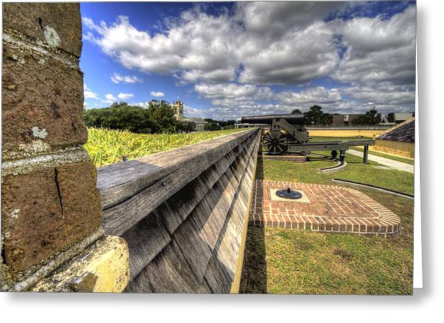 Fort Greeting Cards - Fort Moultrie Cannon Greeting Card by Dustin K Ryan