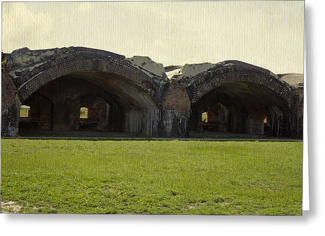 Civil War Battle Site Greeting Cards - Fort Pickens Arches Greeting Card by Laurie Perry