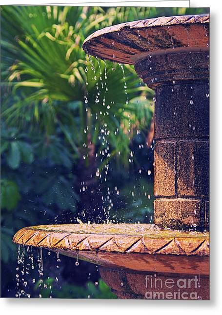 Angela Doelling Ad Design Photo And Photoart Greeting Cards - Fountain Greeting Card by Angela Doelling AD DESIGN Photo and PhotoArt