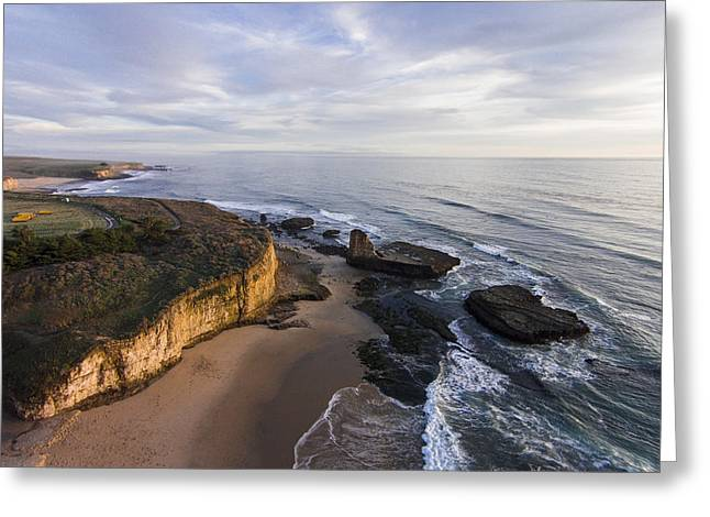 Santa Cruz Surfing Greeting Cards - Four Mile Sea Stack Greeting Card by David Levy