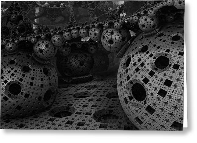 Fractal Spheres Greeting Card by Mountain Dreams