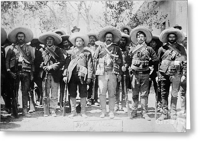 Troops Photographs Greeting Cards - Francisco Pancho Villa Greeting Card by Granger
