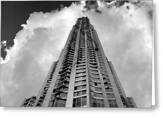 Frank Gehry High Rise Lower Manhattan Greeting Card by Robert Ullmann