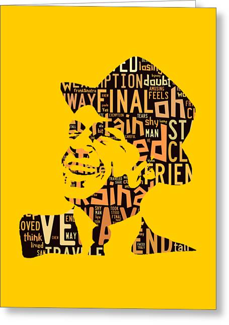 Frank Sinatra I Did It My Way Greeting Card by Marvin Blaine