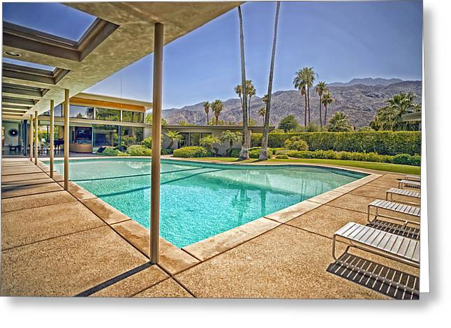 Poolside Greeting Cards - Frank Sinatras Twin Palms Estate Greeting Card by Mountain Dreams