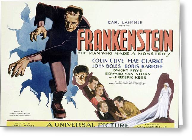 Frankenstein 1931 Greeting Card by Mountain Dreams
