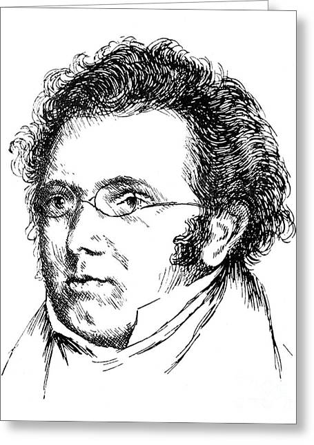 Sideburns Greeting Cards - Franz Schubert (1797-1828) Greeting Card by Granger