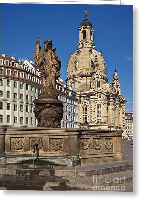 Frauenkirche Dresden, Germany Greeting Card by Gunter Kirsch