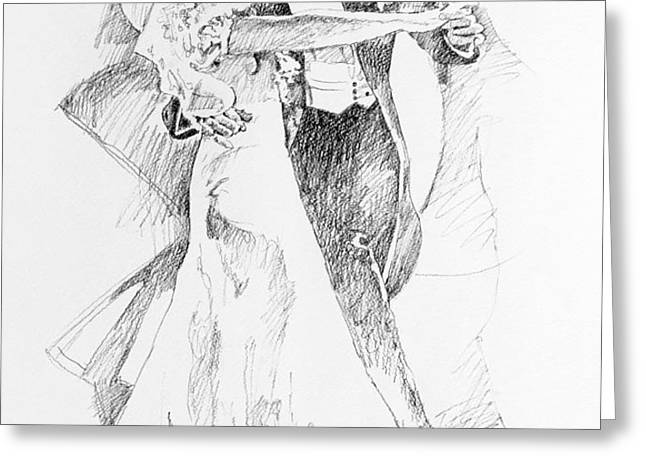 Fred and Ginger Top Hat Greeting Card by David Lloyd Glover