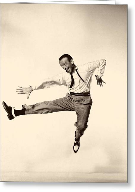 1950s Portraits Photographs Greeting Cards - Fred Astaire In Daddy Long Legs 1955 Greeting Card by Mountain Dreams