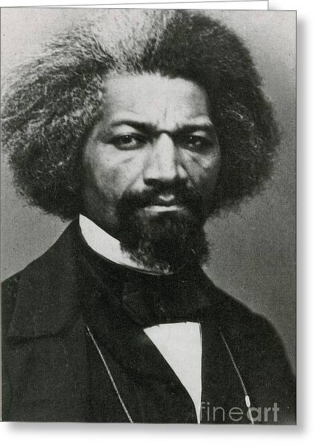 Slaves Greeting Cards - Frederick Douglass, African-american Greeting Card by Photo Researchers