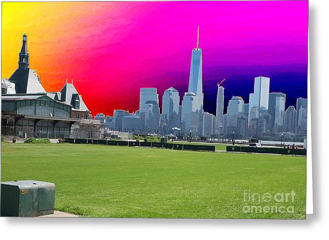 Jihad Mixed Media Greeting Cards - FREEDOM TOWER formerly World Trade  Centre WTC New York photo taken on July 4 2015 USA Americas bir Greeting Card by Navin Joshi
