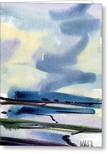San Francisco Bay Greeting Cards - Fremont Salt Pans Greeting Card by Donald Maier