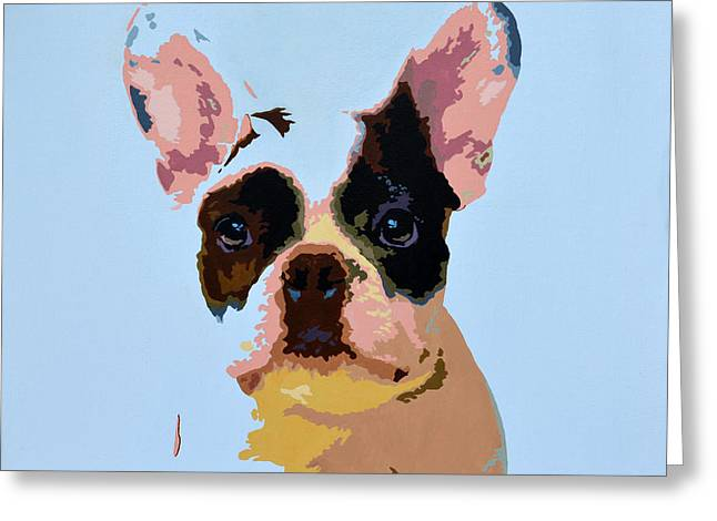 Cute Frenchie Art Greeting Cards - French Bulldog Greeting Card by Samantha Harding