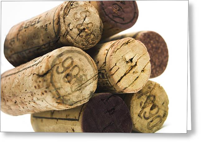 Stopper Greeting Cards - French corks Greeting Card by Bernard Jaubert