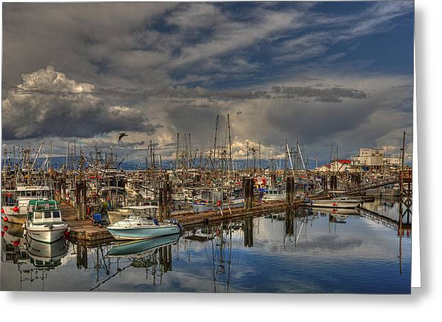 French Creek Marina Greeting Cards - French Creek Marina Greeting Card by Randy Hall
