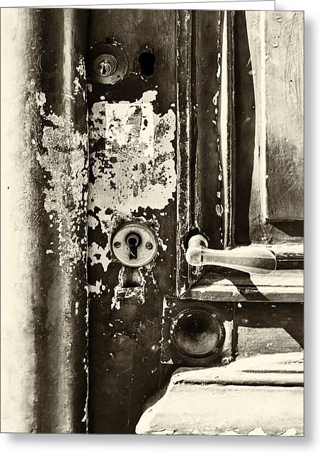 French Door Photographs Greeting Cards - French Door Detail Greeting Card by Nomad Art And  Design