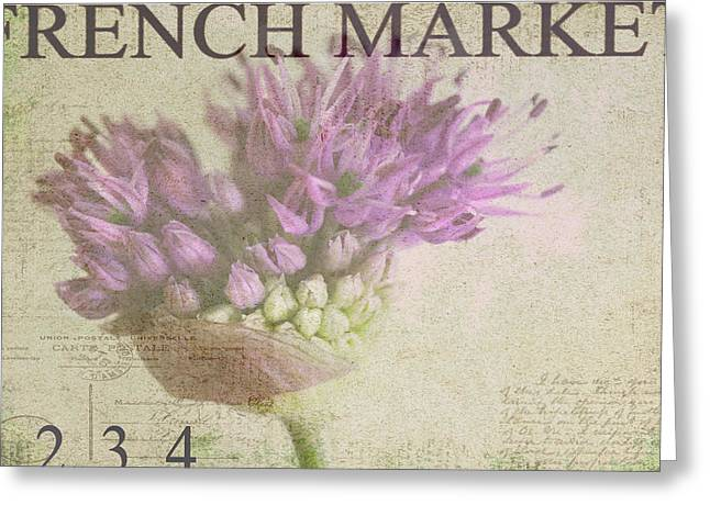 Purples Photographs Greeting Cards - French Market Series G Greeting Card by Rebecca Cozart