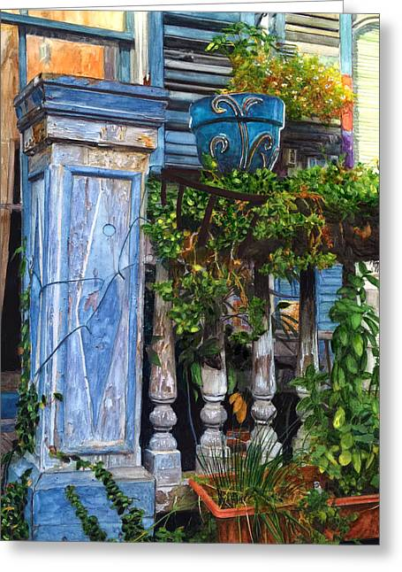French Quarter Porch Greeting Card by John Boles