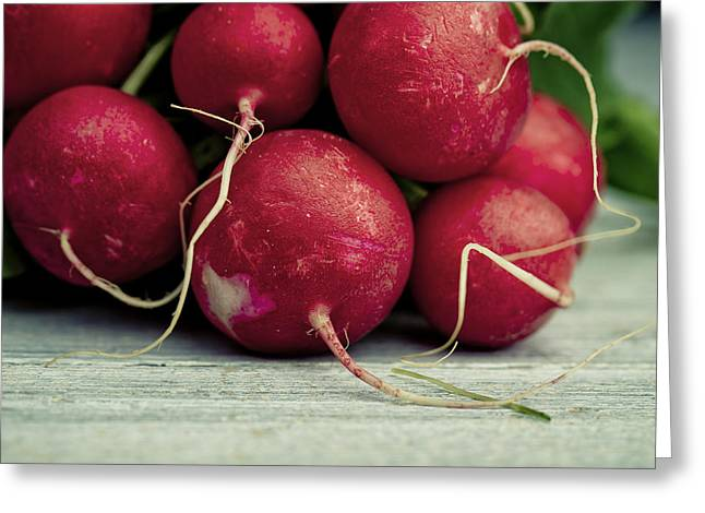 Fresh Radish Greeting Card by Nailia Schwarz