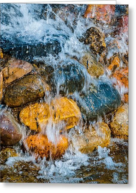 Stones Greeting Cards - Fresh Water Greeting Card by Alexander Senin