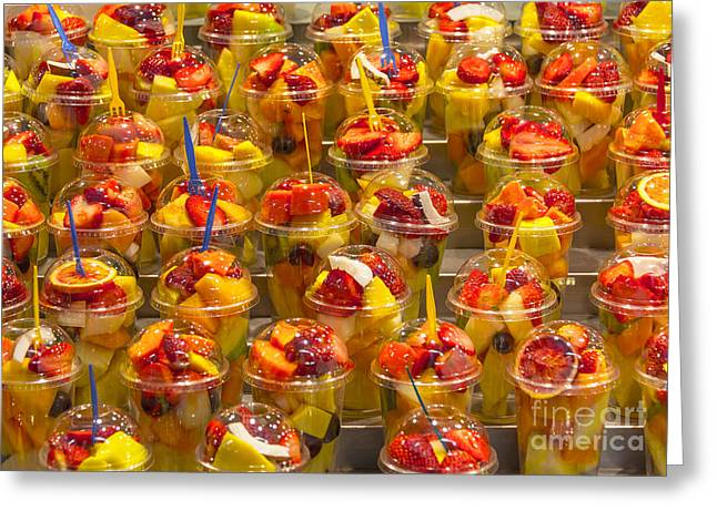 Fruit Juice Greeting Card by Svetlana Sewell