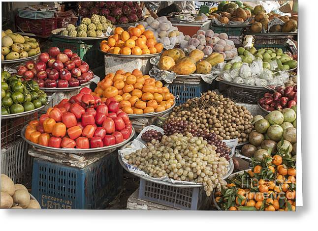 Grocery Store Greeting Cards - Fruit market Greeting Card by Daniel Ronneberg