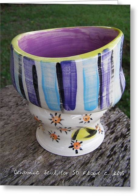 Glazed Pottery Ceramics Greeting Cards - Fun In The Sun Greeting Card by Sandi Floyd