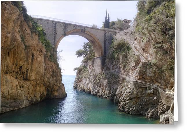 Furore - Amalfi Coast Greeting Card by Joana Kruse