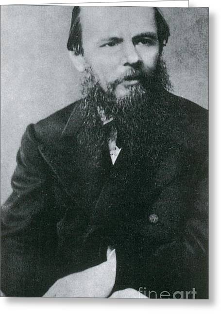 Exiles Greeting Cards - Fyodor Dostoyevsky, Russian Author Greeting Card by Photo Researchers