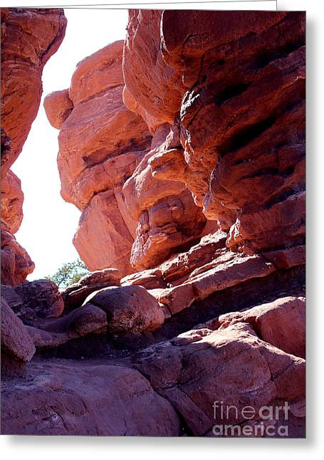 Garden Of The Gods, Colorado Springs, Red Rocks Sun Rising Greeting Card by Adam Long