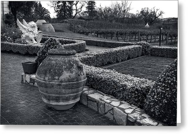 Garden Statuary Greeting Cards - Garden Statuary - Del Dotto Estate Winery Greeting Card by Mountain Dreams