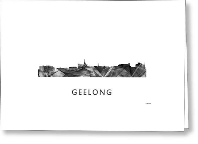 Geelong Australia Skyline  Greeting Card by Marlene Watson