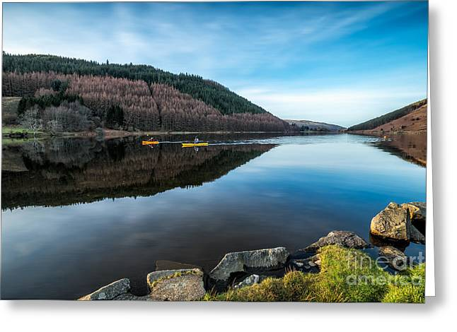 Mountain Valley Greeting Cards - Geirionydd Lake Greeting Card by Adrian Evans