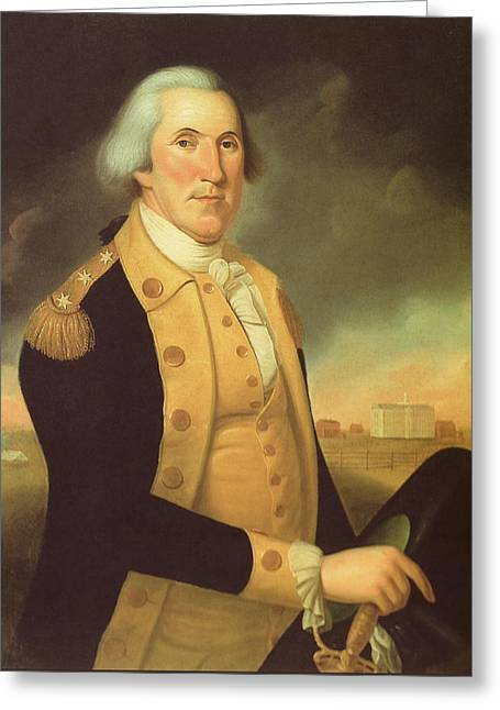 George Washington Greeting Cards - General George Washington Greeting Card by War Is Hell Store