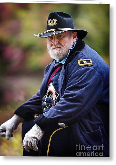 Protrait Greeting Cards - General Grant Greeting Card by Jim  Calarese