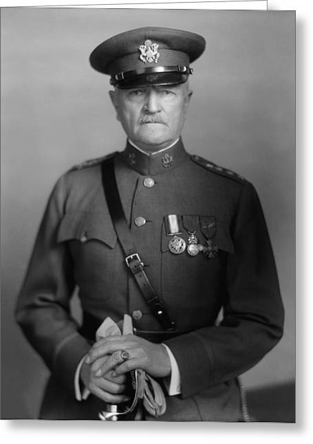 Patriots Photographs Greeting Cards - General John Pershing Greeting Card by War Is Hell Store