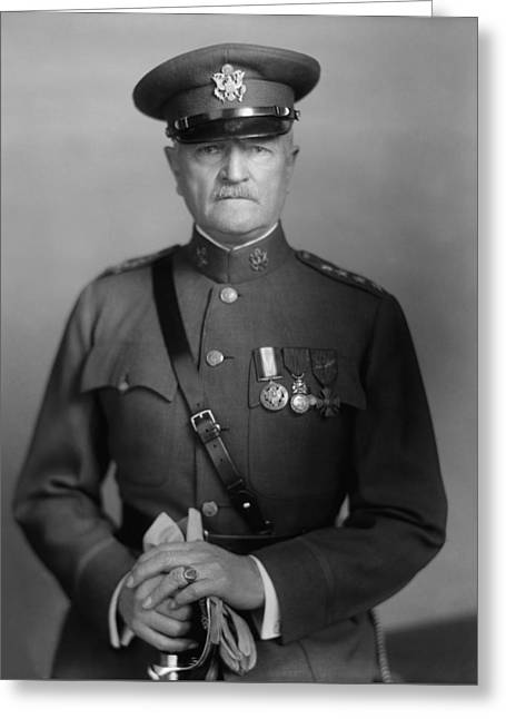 Army Photographs Greeting Cards - General John Pershing Greeting Card by War Is Hell Store