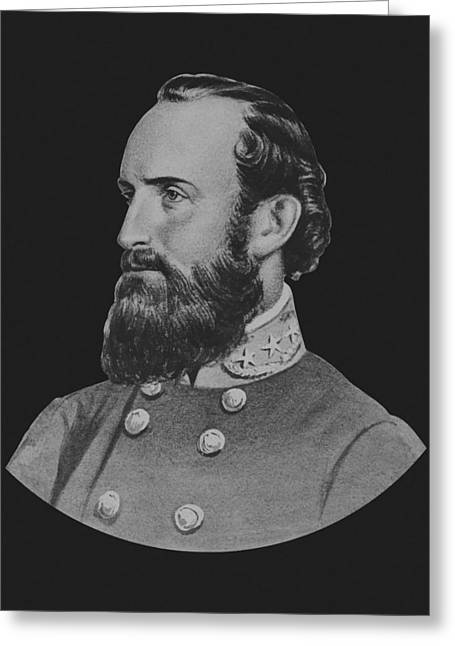 Jackson Greeting Cards - General Stonewall Jackson Greeting Card by War Is Hell Store
